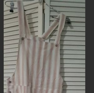 NEW Rylee Cru Womens overall sand stripe pattern